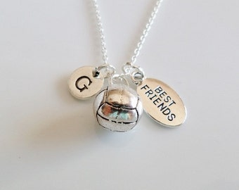 Volleyball Necklace, Volleyball charm necklace, best friend volleyball, Gifts for best friend, Sports team gifts, Volleyball Mom