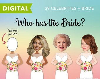 60 qty - Who has the Bride? – Wedding shower game – Digital
