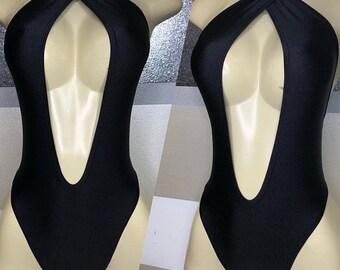 Plunging Criss Cross Halter Bathing Suit Swim wear pdf sewing pattern
