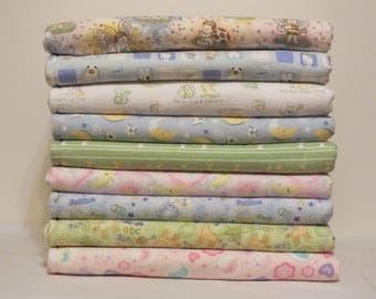 Fleece and Flannel Baby Blankets - Receiving Blankets