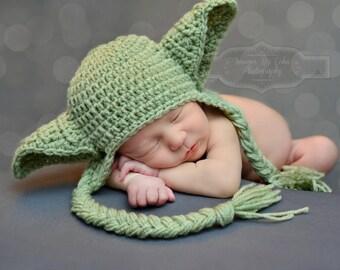 Winter Star Wars Baby Hat Yoda Hat Earflaps Newborn 0 3m 6m Crochet Photo Prop Baby Clothes Boys Girls Gender Neutral POPULAR Worldwide