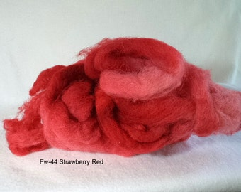 Felting Wool: FW-44 Strawberry Red