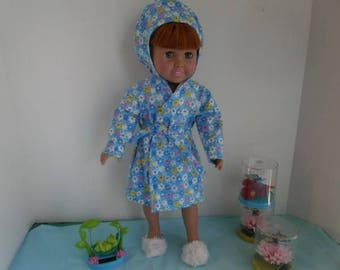 Hooded Robe out of Soft Flannel for AG Size Dolls