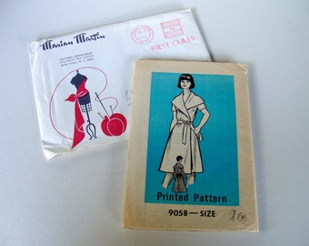 1970s Wrap Dress Sewing Pattern . Bust 38 . Uncut . Marian Martin
