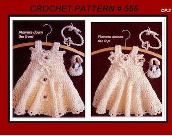 crochet pattern, dress,  girls dress, baby dress, booties, and headband, toddler, preteen, teen, Instant Download, num. 555