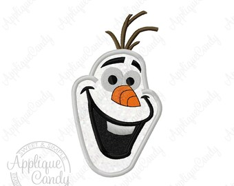 Frozen Snowman Applique Machine Embroidery Design 4x4 6x6 5x7 6x10 Face Head Olaf Some people are worth melting for INSTANT DOWNLOAD