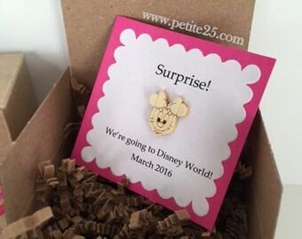 We are going to Disney!, Minnie Mouse, Disney World, Magic Kingdom, Disneyland, surprise, secret message