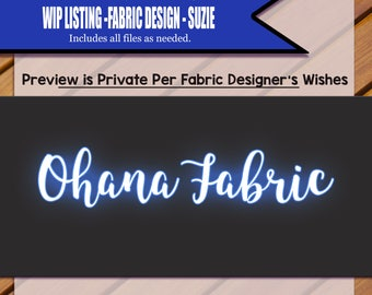 Custom Clip Art and Fabric Design Package for Suzie