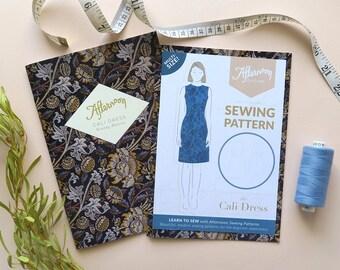 Cali Dress | Simple, sleeveless shift dress | Printed sewing pattern