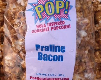 Pecan Praline Bacon Gourmet Popcorn Popcorn Caramel Corn Caramel Popcorn New Orleans Gifts for Men and Women Christmas Thanksgiving holiday