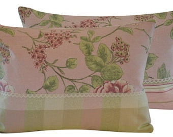 Pink Peony cushion cover, pastel-colour, Shabby Chic Pink Pink Peonies Decorative Pillow Case