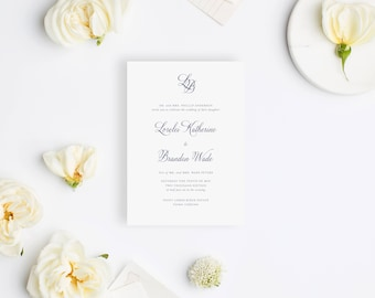 Wedding Invitation Sample - The Blush Suite
