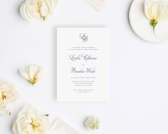 Wedding Invitation Sample - The Blush Suite