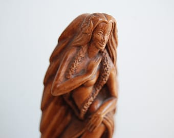 Hula Dancer Hawaii Carved Hapa-Wood Sculpture Hawaiian Hula Dancer Figure CocoJoe's Hapa-Wood Carving Made in Hawaii