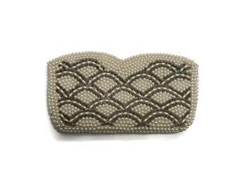 Vintage Clutch Purse, 1950s Pearl Beaded Bag, Evening Bag, Wedding Bridal Accessory