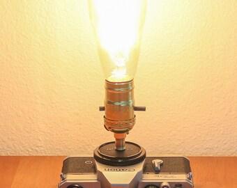 Repurposed Canon TLb 35MM Camera Lamp