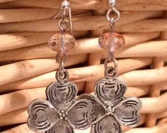 Silver Dogwood Earrings