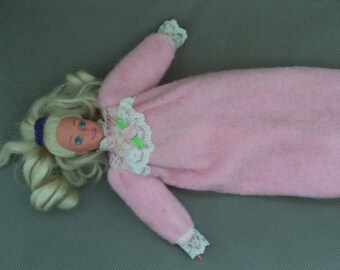 Sleep time Barbie Doll ,Barbie doll,Vintage Barbie doll, Mattel Barbie ,Gift under 25,  Doll baby , Vintage Doll ,Stocking stuffer