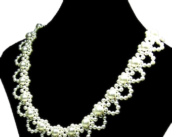 Elegant Pearl Necklace Jewelry Beading Tutorials and Patterns TB5