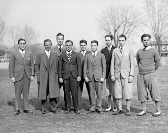 "1928 Georgetown University Golf Team, DC Vintage Photograph 8.5"" x 11"" Reprint"