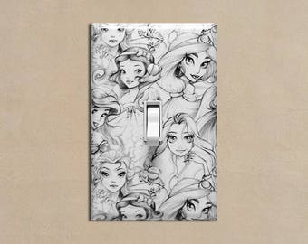 Disney Princesses #5 - Light Switch Plate Covers Home Decor Outlet