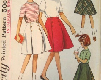 Simplicity Pattern 5431 Size 8 Girl's Wrap Around Skirt