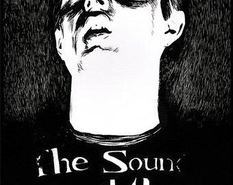 Joy Division - Ian Curtis portrait original ink drawing
