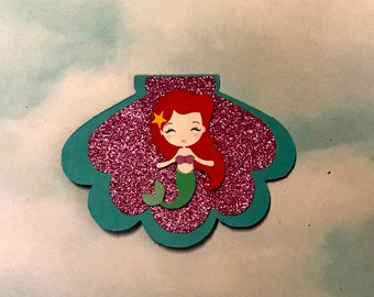 custom mermaid birthday invitation cute 1st 2nd 3rd b