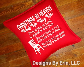 Christmas In Heaven Down Pillow