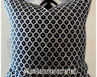 Black.White.IKAT.Modern.Fall Decor.Pillow Cover.Slipcover.Toss Pillow