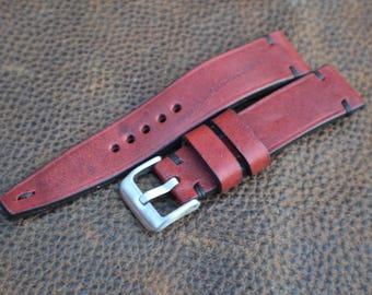 20/18 Handmade Leather Watch Strap Custom Made by NeptuneStraps