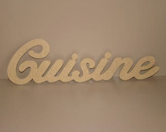 MDF kitchen word Customize 28.5 cm x L 8,5 cm