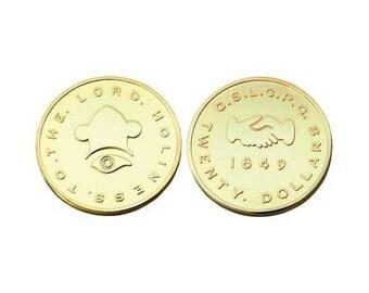 20.00 Dollar Mormon Gold Coin Replica - M7