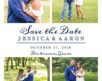 Photo Save The Date cards for Jessica, Save the date with photo, Save the date postcard template, Wedding Invitation with picture