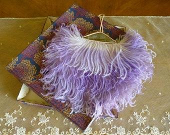 1920s Flapper Ostrich Feather Evening bag, antique bag, Handbags, purse