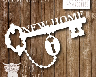 New home Key personal and commercial cutting template PNG