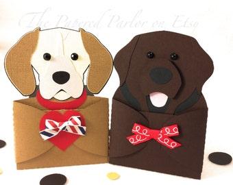 Dog Gift Card Holder/Dog Party Invitation/Beagle Party/Labrador Party/Puppy Party/Dog Invitations Beagle Invitations/Labrador Invitations