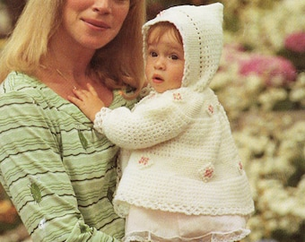 Baby Crochet Pattern, Crochet Baby Sweater Pattern with Hood, Handmade Baby Shower Gift, PDF INSTANT Download Pattern (1301)
