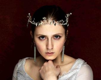 Snow Queen Bridal Crown // Jeweled Bridal Crown // Halo Headband // Crystal Tiara