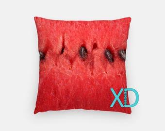 Melon Pillow, Watermelon Pillow Cover, Fruit Pillow Case,  Black and Pink Pillow, Artistic Design, Home Decor, Decorative Pillow Case, Sham