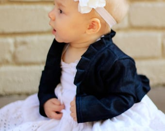 Pleated Ruffle Bolero Jacket Pattern Baby & Toddler