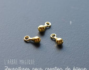 10 shapes drops gold color metal charms