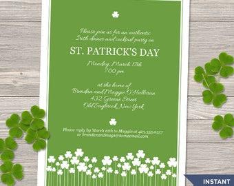 st patrick s day invitation template