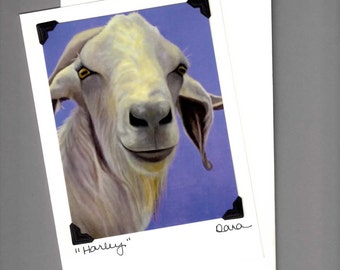Goat Card - Funny Goat Card - Goat Art - Goat Print -  Proceeds Benefit Animal Charity