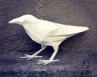 Papercraft raven - printable DIY template