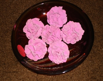 Edible Gumpaste Carnations / Double Petal Hollyhocks for Wedding Cakes and Cupcakes
