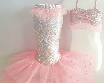 """Little Mermaid Princess Costume for Dress-Up,Portraits or Holloween! """"Pink"""""""