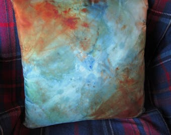 Wild Places - Hand Dyed Silk Pillow Cover