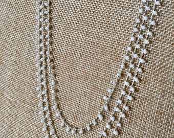 White droplets necklace- 3 in picture for length visual!! Three for 50 or 20 each!