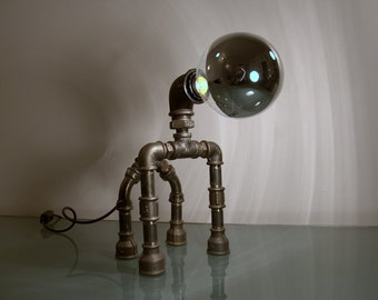 Zoomorphic Table lamp Industrial Steampunk style .